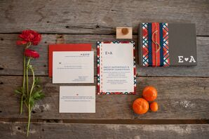 Red and Blue Invitation Suite