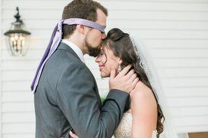Half-Up Wavy Bridal Hairstyle