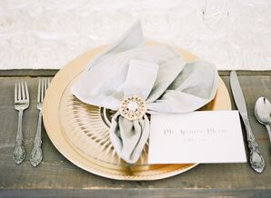 Gold and Silver Place Setting