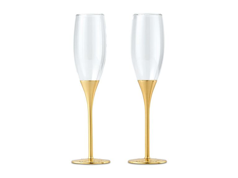 Champagne flutes first anniversary gift