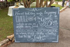 DIY C.S. Lewis Quote Chalkboard