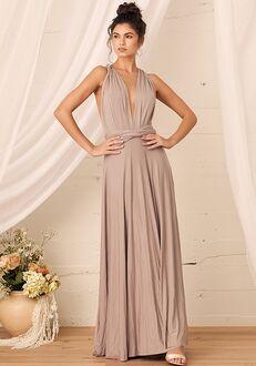 Lulus Tricks of the Trade Taupe Maxi Dress Bridesmaid Dress