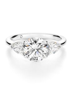 The Forevermark Engagement & Commitment Collection Classic Pear, Round Cut Engagement Ring
