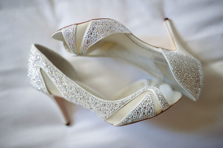 Silver and Ivory Benjamin Adams Heels