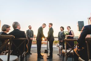 Same-Sex Ceremony on the Rooftop of the Mitchell Lofts in Dallas, Texas