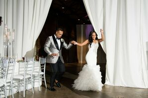 Bride and Groom Reception Entrance at the Georgia Freight Depot in Atlanta
