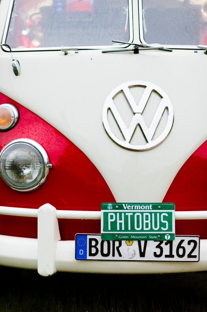 In lieu of a traditional photo booth, Jess and Todd hired Photo Booth Planet's funky Volkswagen Photo Booth Bus for the reception, providing guests with a fun, old-school way to capture the memorable event.