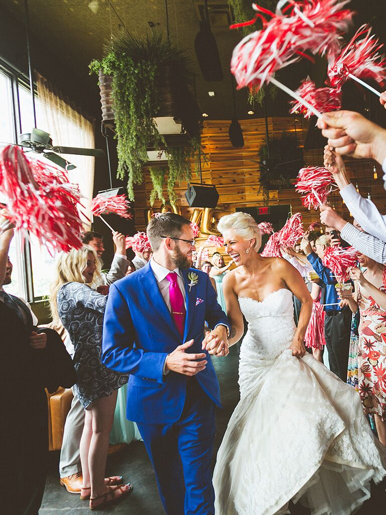 Image result for spirit pom pom wedding send off