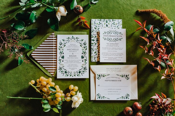 Garden-Inspired Stationery Suite