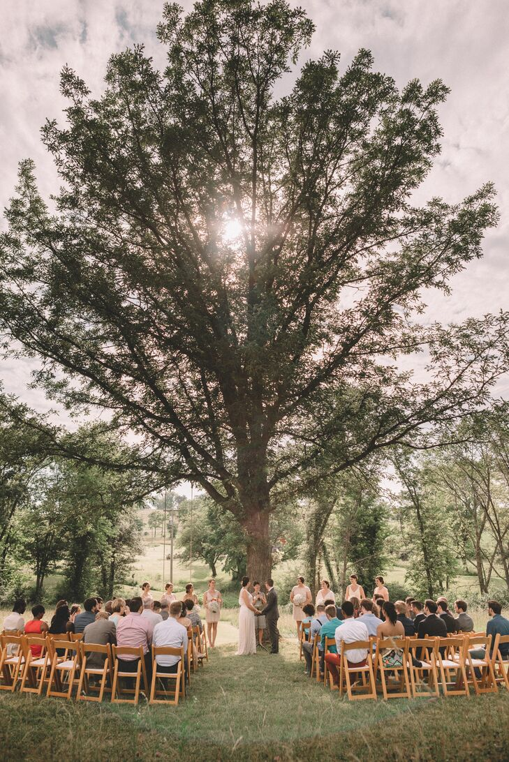 Casual Outdoor Summer Wedding Ceremony
