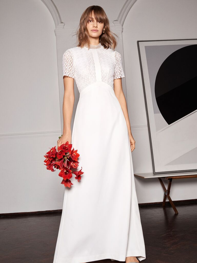 Whistles Wedding 2019 Bridal Collection short sleeve A-line wedding