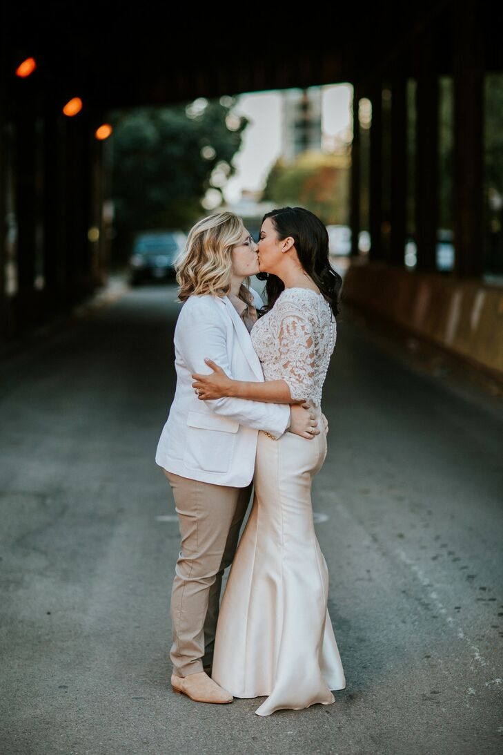 Elegant Brides Wearing Gown and Suit