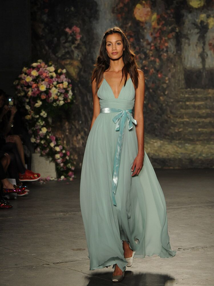 Jenny Packham Blue Wedding Dress With Silk Sash From Spring 2016