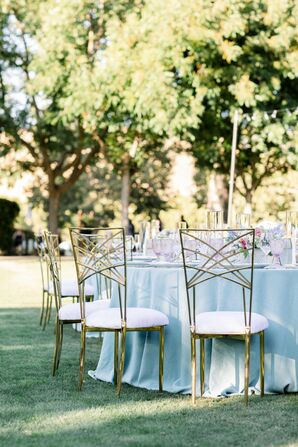 Modern Metal Reception Chairs at Wente Winery Wedding