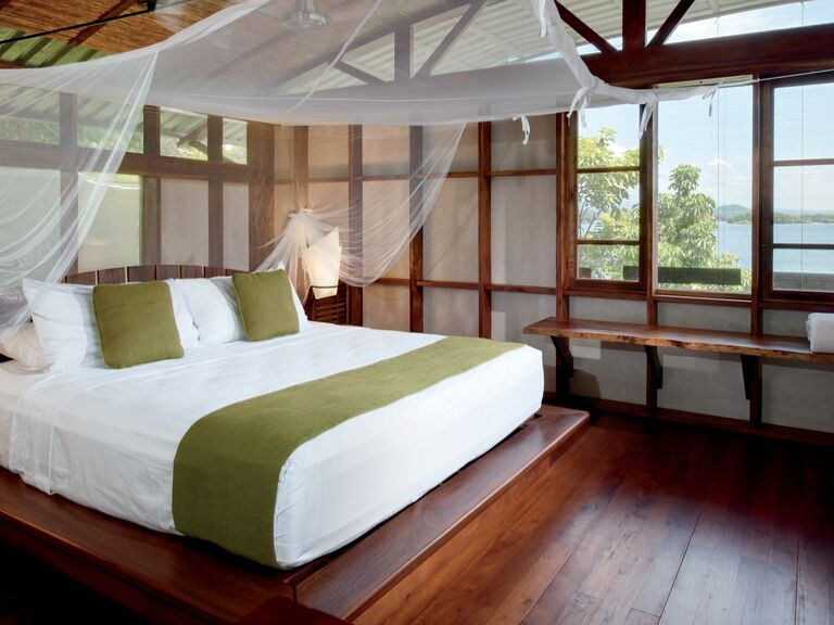 Bedroom in Jicaro Island Lodge in Nicaragua