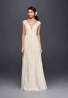 David's Bridal Galina Style KP3820 Sheath Wedding Dress
