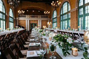 Rustic Farm Tables with Elegant, Bohemian Centerpieces