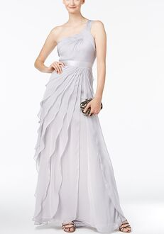 Adrianna Papell Adrianna Papell One-shoulder Tiered Chiffon Gown One Shoulder Bridesmaid Dress