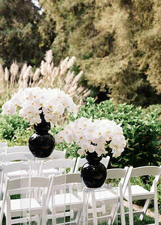 Black and White Formal Outdoor Wedding   blog.theknot.com