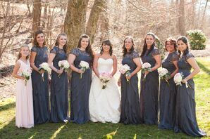 Lace and Chiffon Adrianna Papell Bridesmaid Dresses