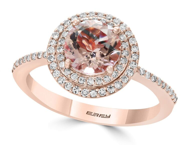 Effy morganite engagement ring