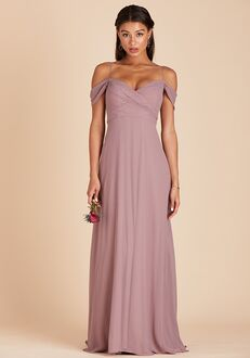 Birdy Grey Spence Convertible Dress in Dark Mauve V-Neck Bridesmaid Dress