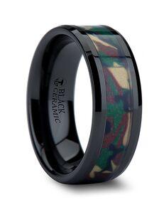 Mens Tungsten Wedding Bands C835-BCJC Tungsten Wedding Ring