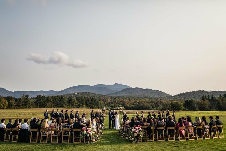 Romantic Ceremony with Views of the Green Mountains