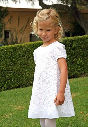 Isabel Garretón Bloom White Flower Girl Dress