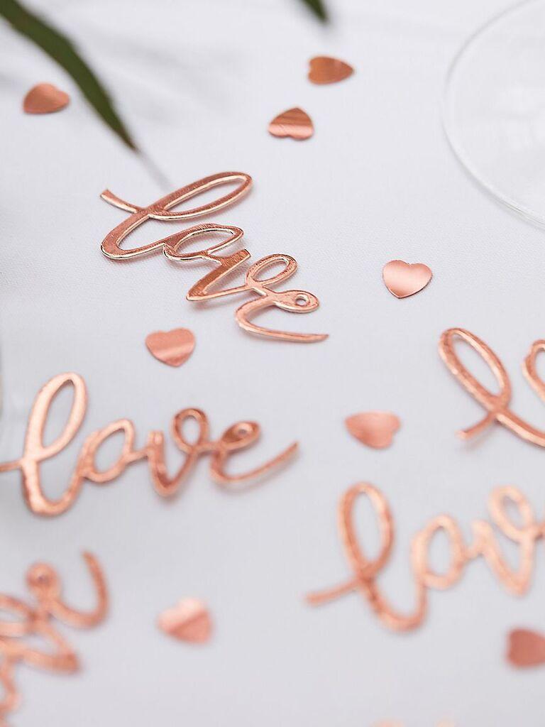 Budget-friendly love confetti decoration