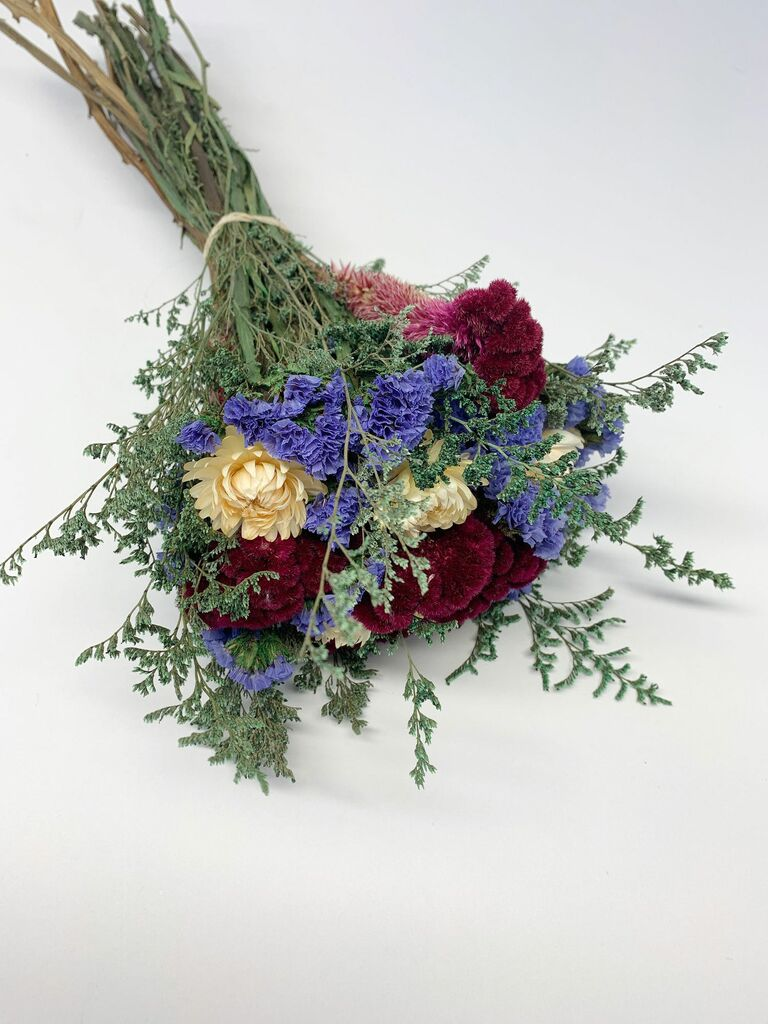 Statice flower dried bouquet 16th anniversary gift