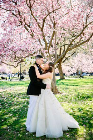 Ivory Peter Langner Strapless Wedding Dress