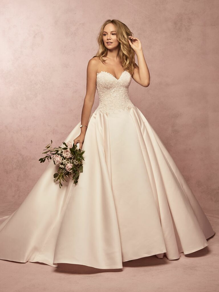 Rebecca Ingram Spring 2019 strapless ball gown wedding dress