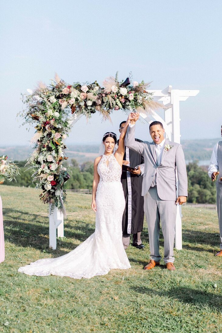 High atop Pennsylvania's rolling hills and overlooking the Susquehanna River, Lauxmont Farms served as the stunning venue for Chris and Heather's outd