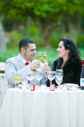 Couple Toasting to Renewed Vows