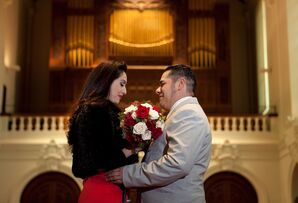Couple in Chapel Renewing Vows