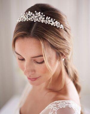 Dareth Colburn Aspen Pearl & Crystal Tiara (TI-3380) Silver Tiara