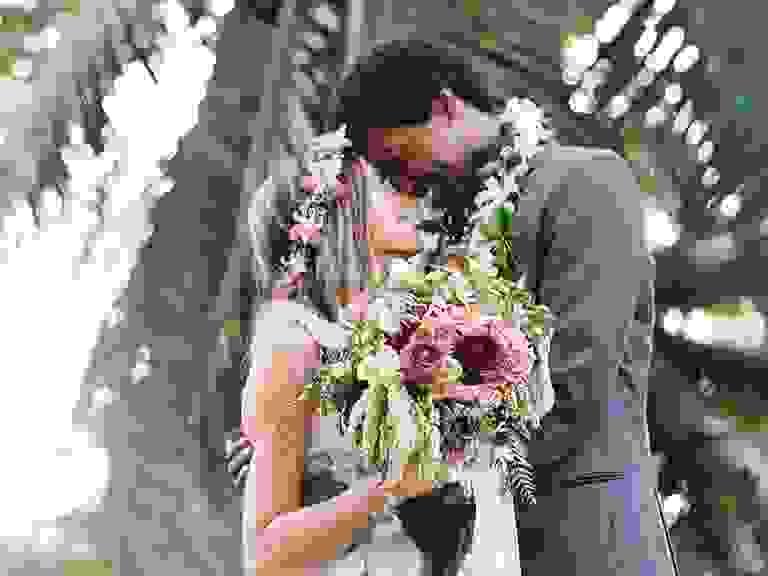 Hawaiian Bride and Groom
