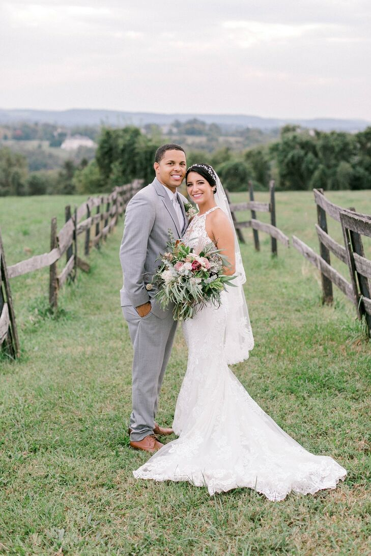 Bride and Groom Portraits at Lauxmont Farms in Wrightsville, Pennsylvania