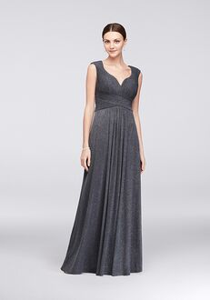 David's Bridal Mother of the Bride 133086 Grey Mother Of The Bride Dress