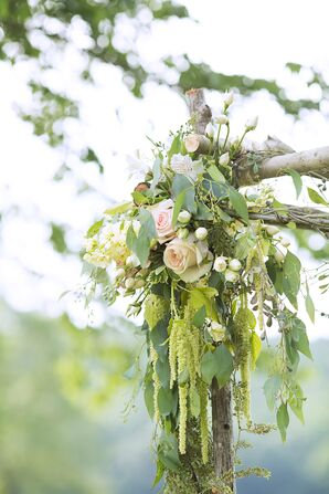 Rose and Eucalyptus Wedding Arch Accent