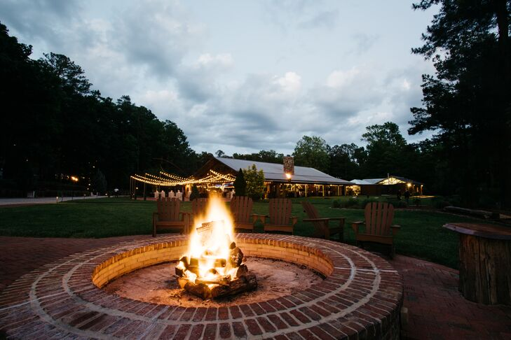 When guests needed to catch their breath and rest their feet, they headed to sit by a roaring bonfire and take in the stars in the night sky.