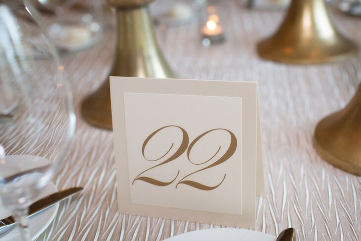 Gold Type Table Numbers