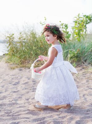 Flower Girl at Lighthouse Point Park in New Haven, Connecticut