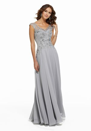 MGNY 72021 Silver Mother Of The Bride Dress