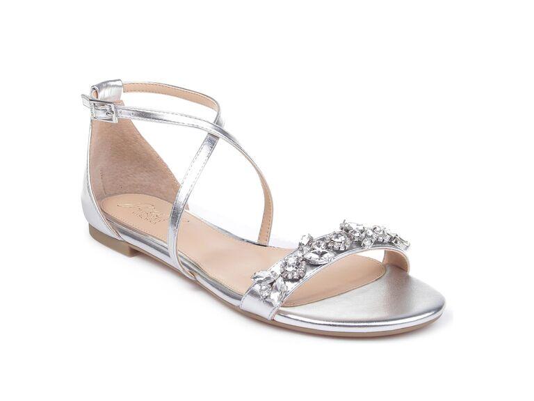 Jewel by Badgley Mischka Tessy embellished sandal