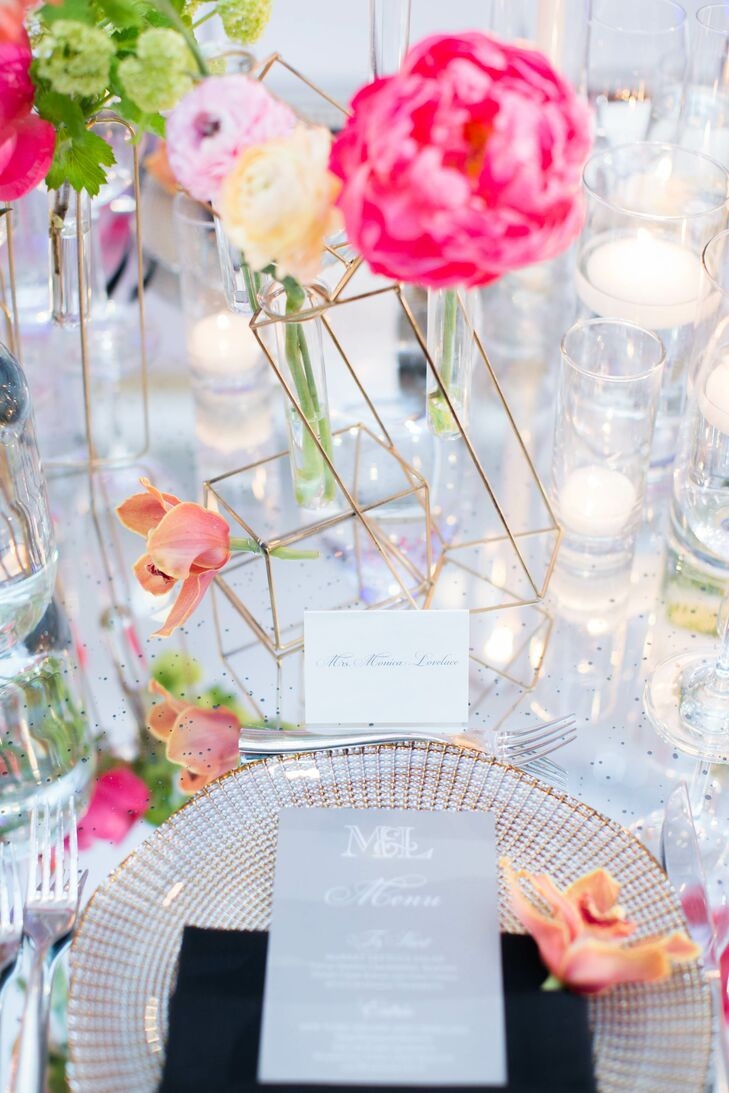 Geometric shapes added a modern twist to the tablescape.
