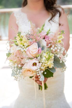 Blush and Ivory Wildflower Bridal Bouquet