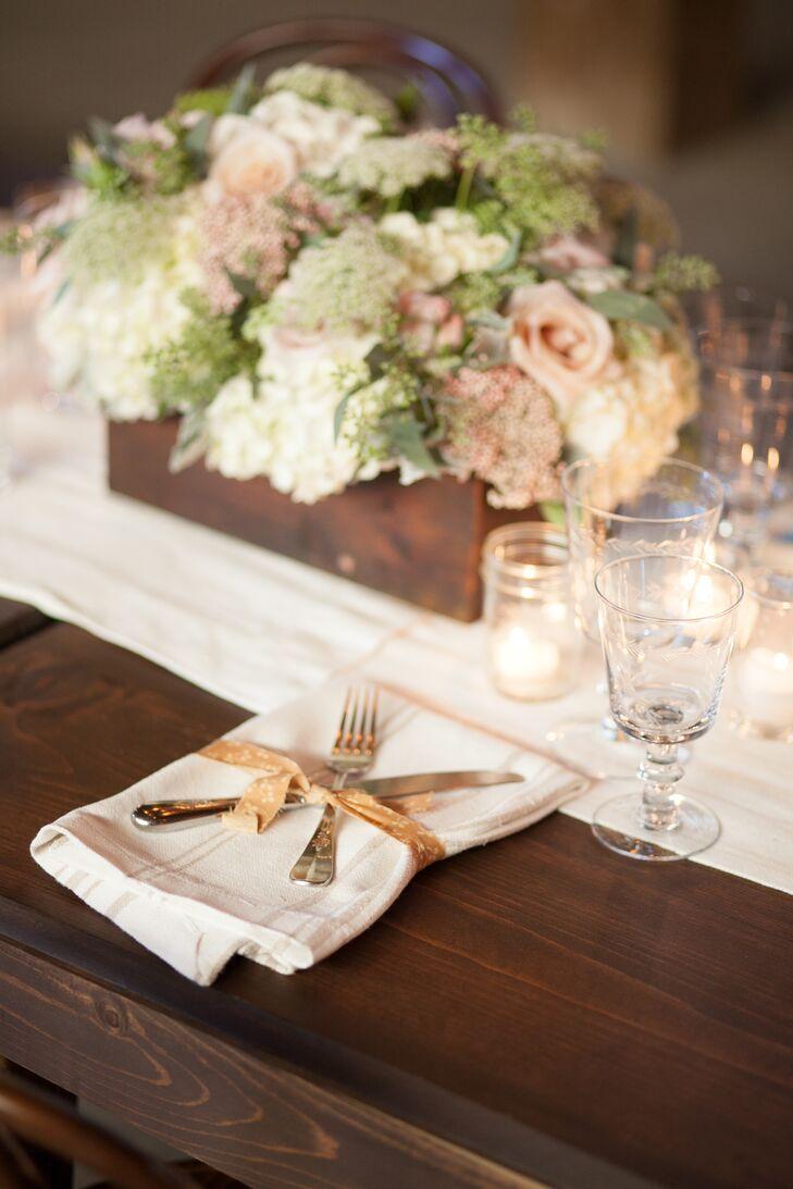Linen Napkins and Ribbon-Tied Silverware