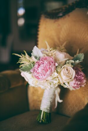 Pink Peony and Pink Rose Bouquet